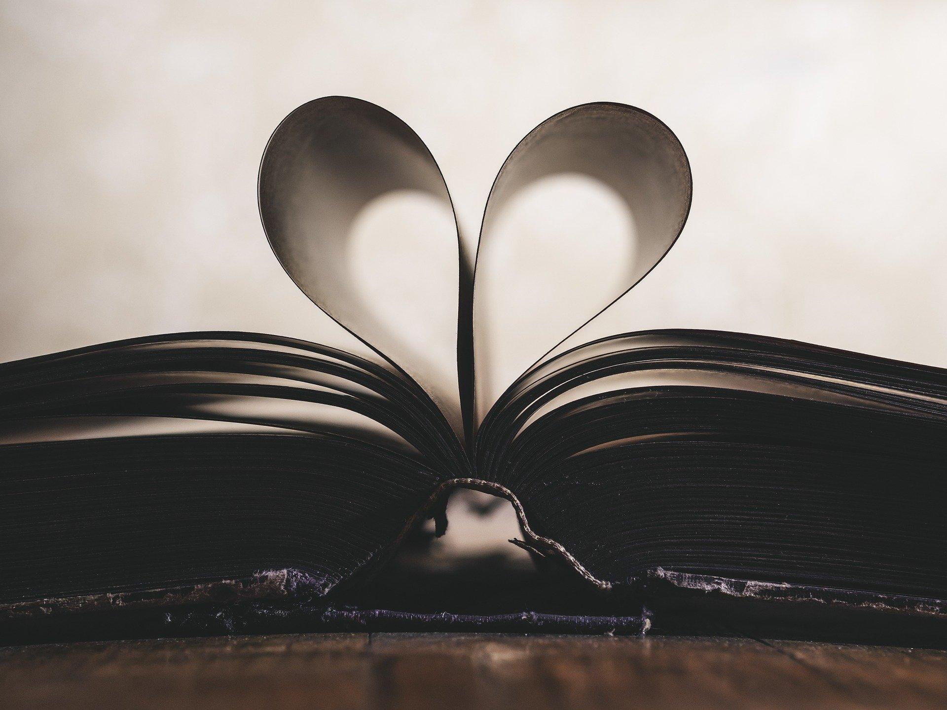 Opengeslagen-boek-met-hartjes- bladzijdes